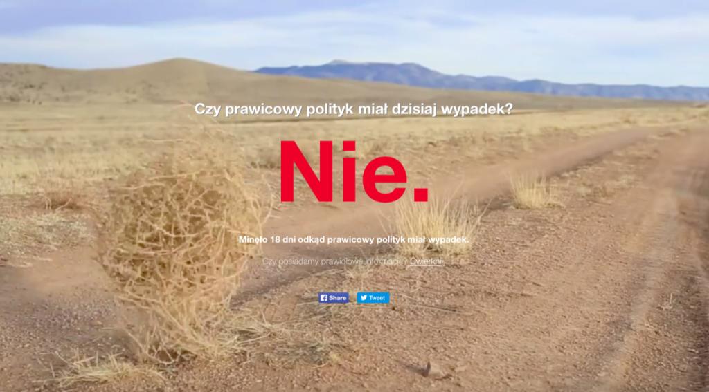 czyprawicowypolitykmialdzisiajwypadek.pl - zrzut ekranu